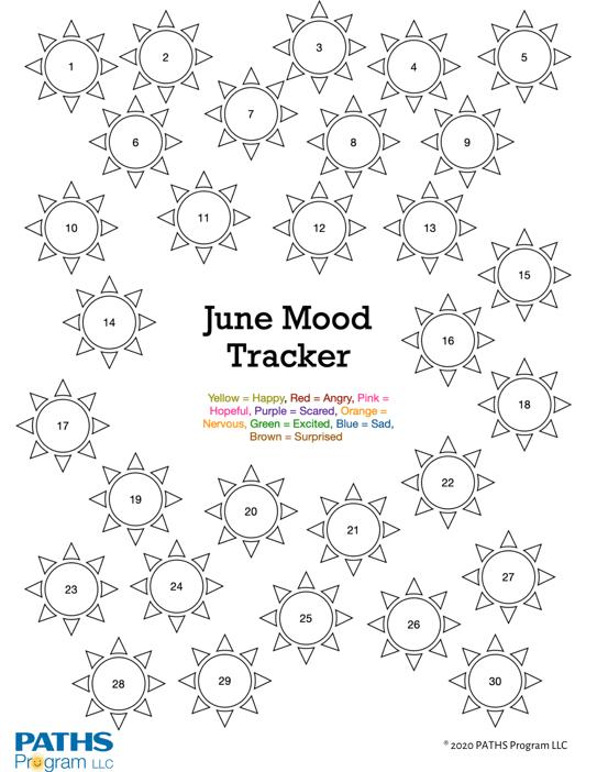 June Mood Tracker-PATHS Program LLC